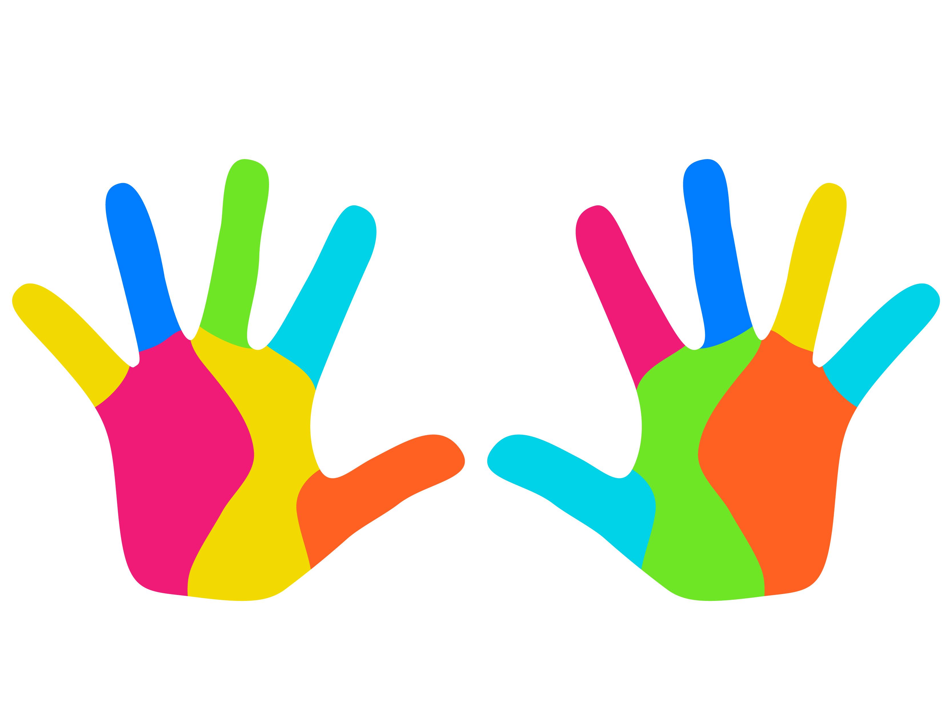 Картинки цветные ладошки для детей